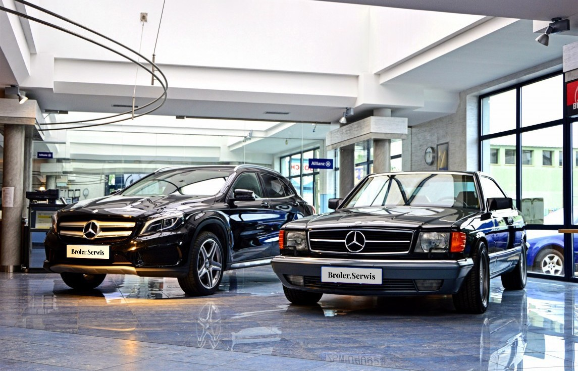 Mercedes GLA 250 and W126  Coupe in Broler.Serwis