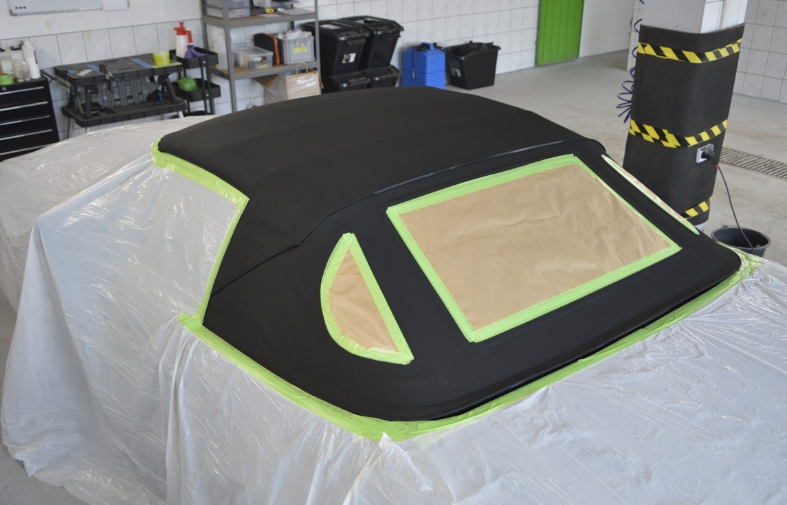 Convertible roof impregnation
